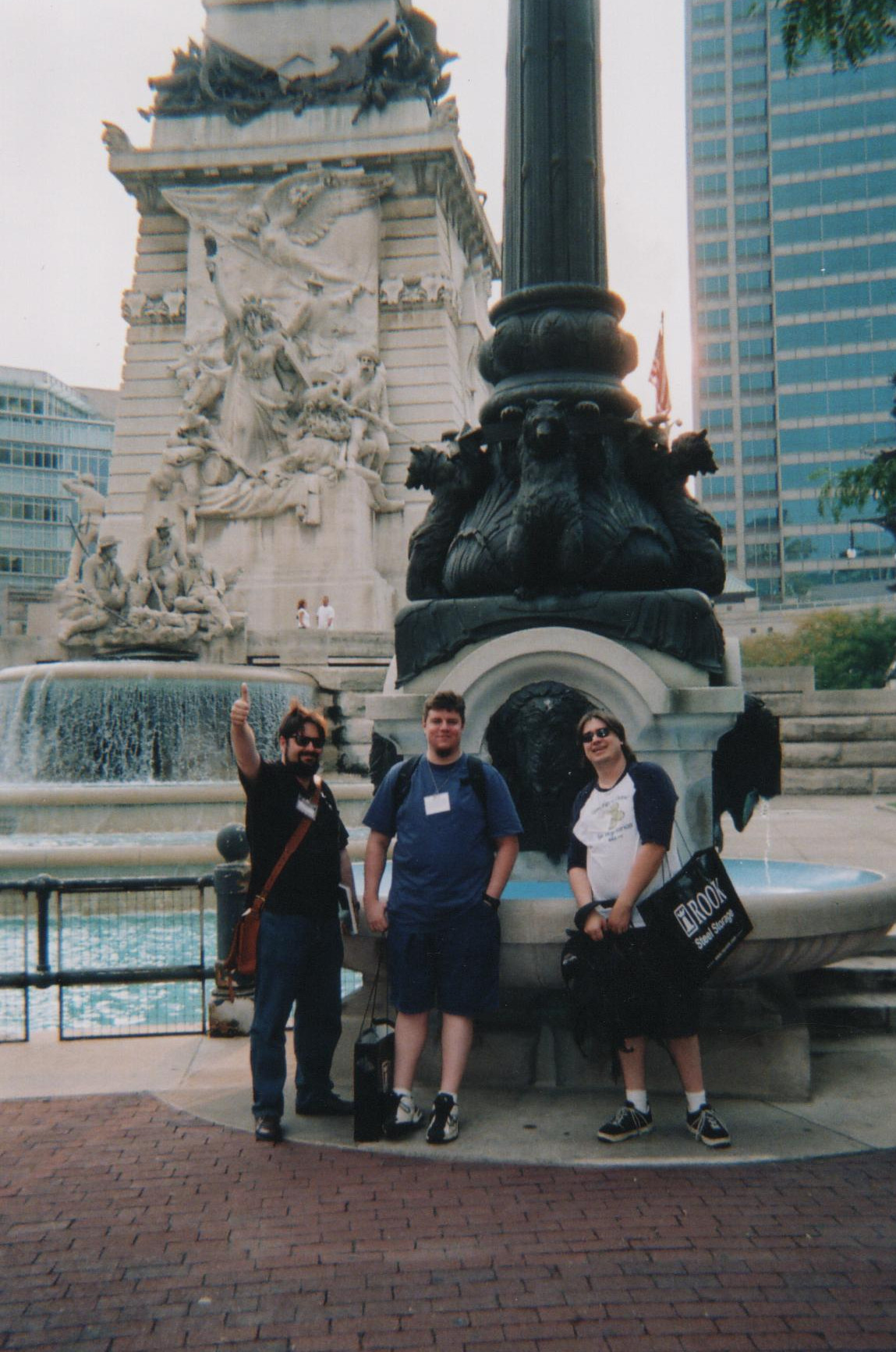 BJ, Joe, and me at an early 2000's GenCon.